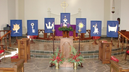 Advent banners - O Antiphons