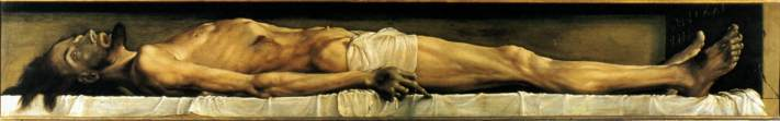 The Body of the Dead Christ in the Tomb, Hans Holbein the Younger, from the Web Gallery of Art.