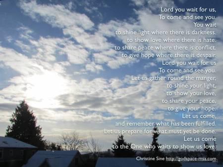 Christine Sine Advent prayer